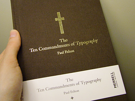 The Then Commandments of Typography