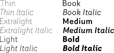 Router font